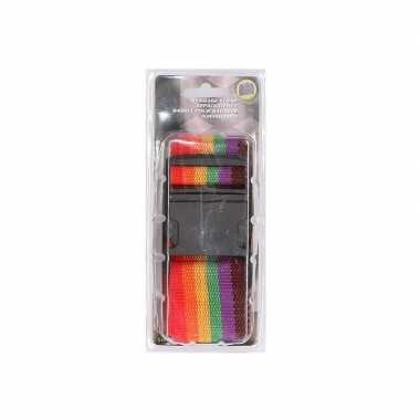 6 kleurige verstelbare kofferriem extra sterk