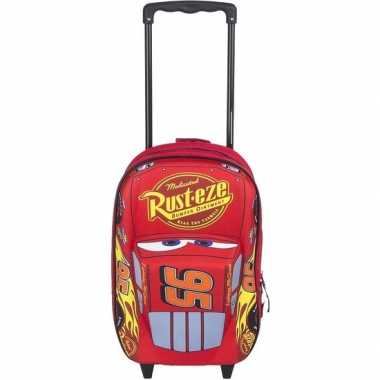 Cars 3d handbagage reiskoffer trolley 35 cm voor kinderen