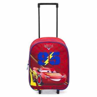 Cars handbagage reiskoffer trolley 39 cm voor kinderen