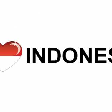 I love indonesia sticker