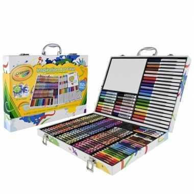 Kleurkoffer 150-delig voor kids