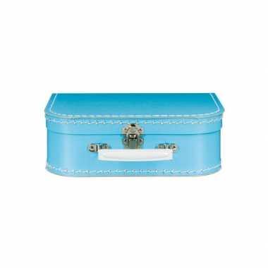 Koffertje blauw 25 cm