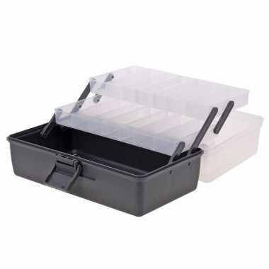 Opberg/sorteer box antraciet 30 cm