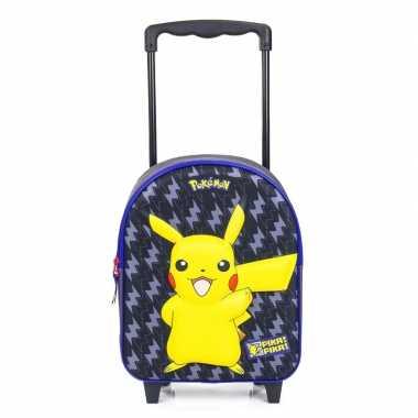 Pikachu 3d handbagage reiskoffer/trolley 31 cm voor kinderen