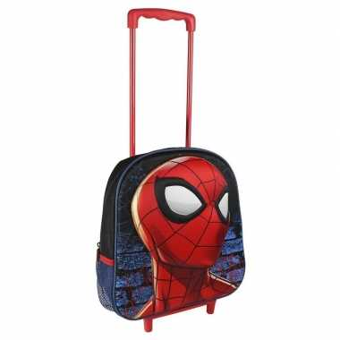 Rode spiderman trolley voor kinderen