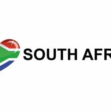 Set van 10x stuks i love south africa vlag sticker 19.6 cm