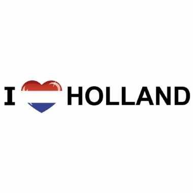 Set van 5x stuks i love holland stickers 19.6 x 4.2 cm