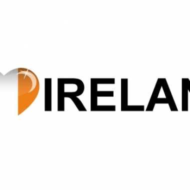 Set van 5x stuks i love ireland vlag sticker 19.6 cm