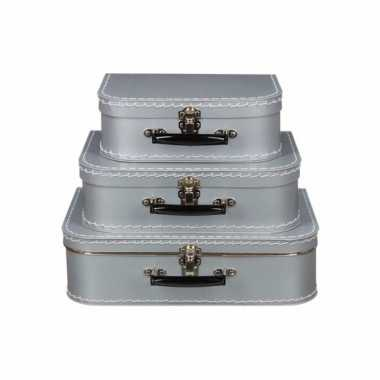 Speelgoedkoffertje zilver 30 cm