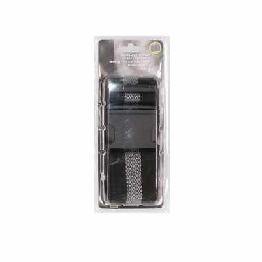 Zwart/grijze verstelbare kofferriem extra sterk