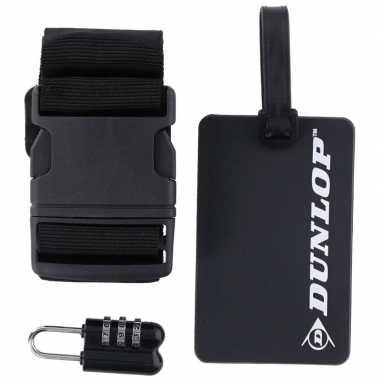 Zwarte koffer/bagage accessoiresset 3-delig