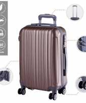 Cabine trolley koffer met zwenkwielen 33 liter goud 10296521