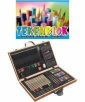 Complete teken schilder doos 88 delig met een a3 schetsboek