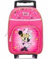 Minnie mouse handbagage reiskoffer trolley 38 cm voor kinderen