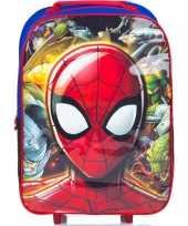 Spiderman handbagage reiskoffer trolley 42 cm voor kinderen